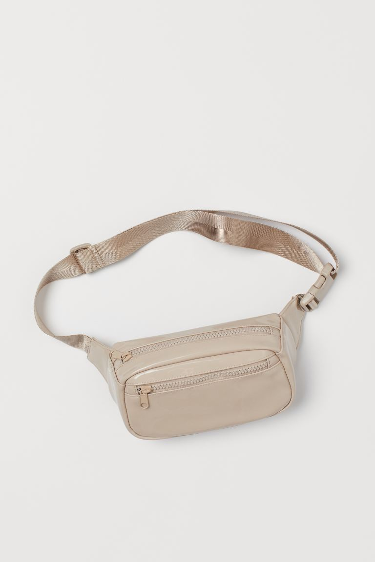 Waist bag - Light beige/Patent - Ladies | H&M IN