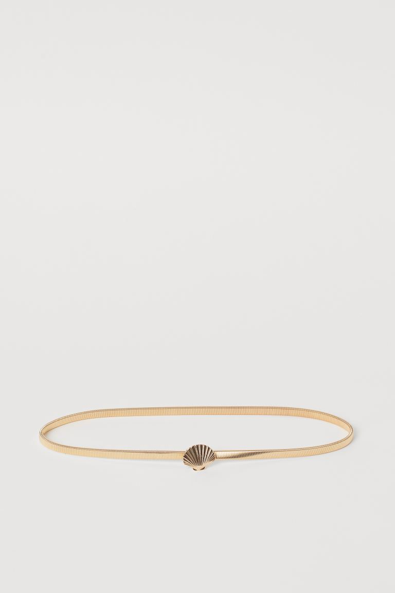 Waist belt - Gold-coloured/Shell - Ladies | H&M IE