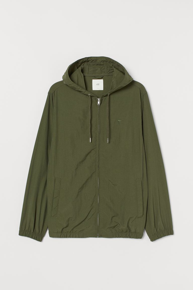 Nylon Jacket - Khaki green - Men | H&M US
