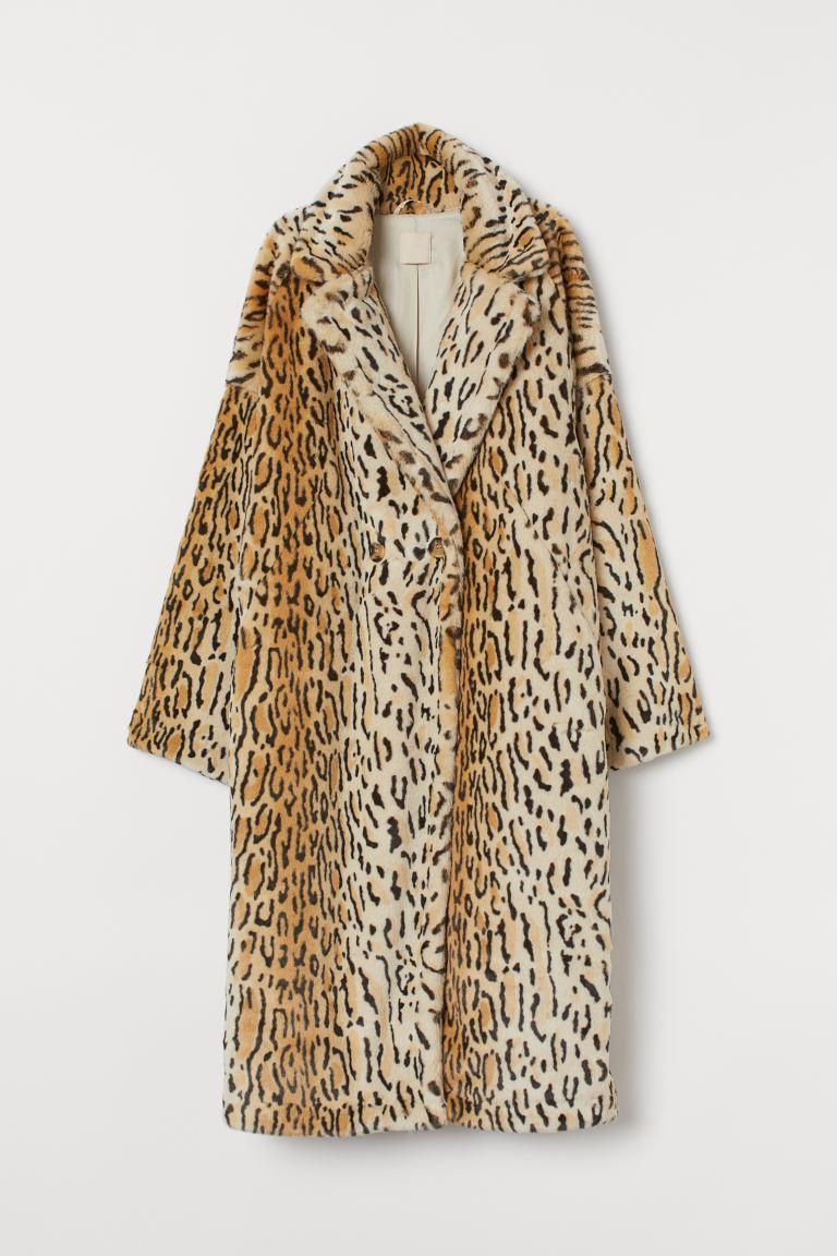 Verwonderlijk Faux Fur Coat - Beige/leopard print - Ladies   H&M US AU-15