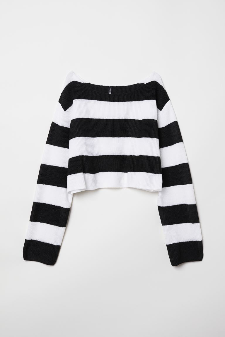 Striped Sweater Black White Striped Ladies H M Us