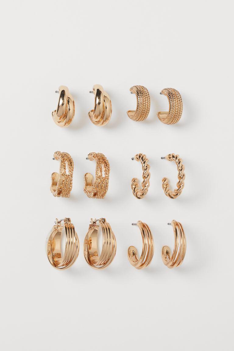 6 Paar Runde Ohrringe