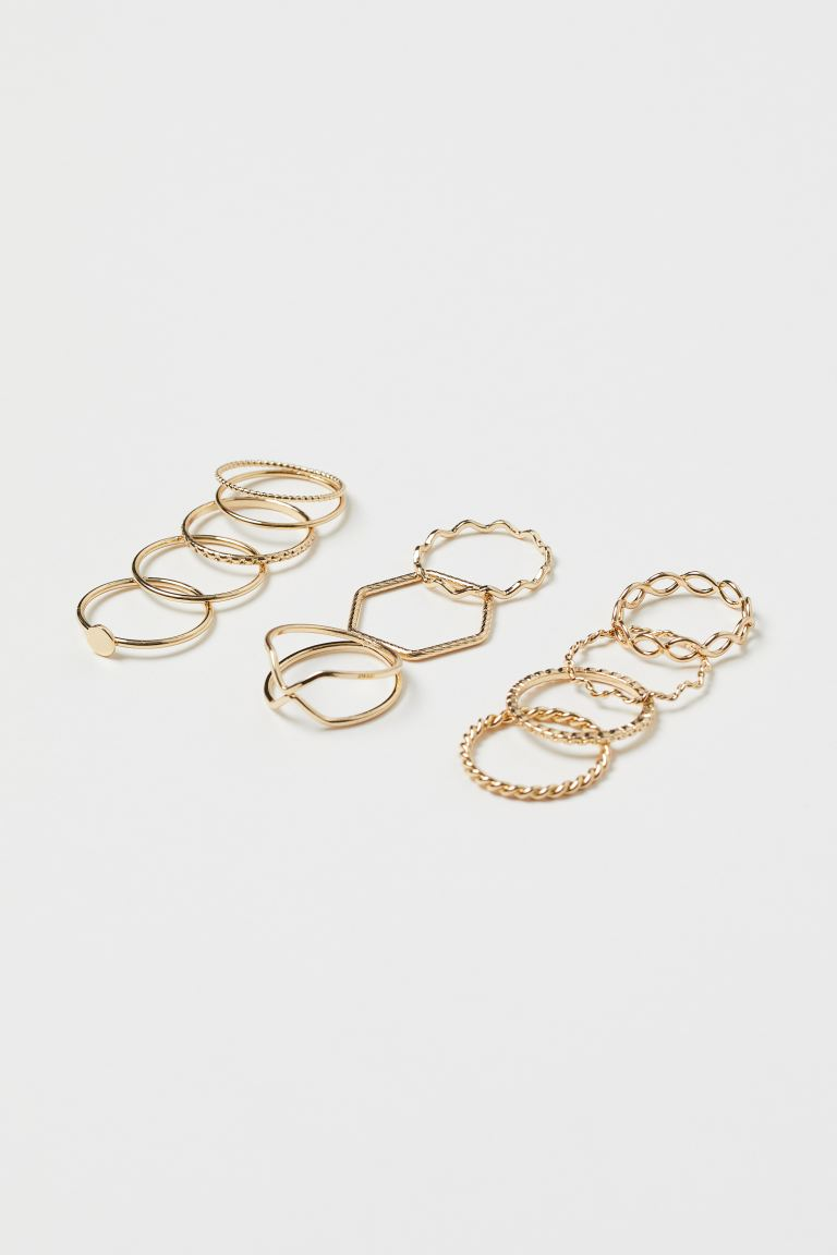 11-pack Rings - Gold-colored - Ladies | H&M CA