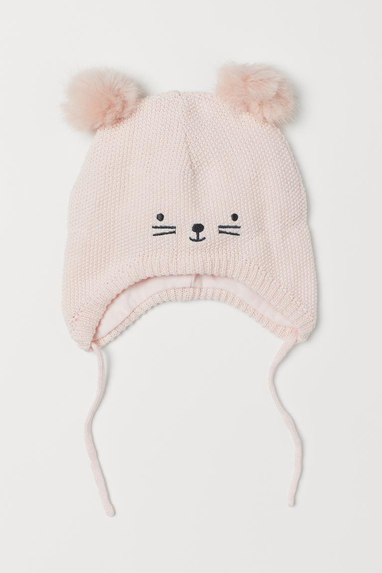 Cotton hat - Powder pink - Kids   H&M GB