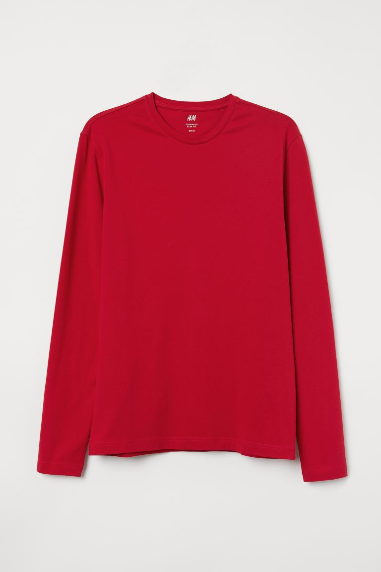 Playera Slim Fit - Rojo - Men | H&M US