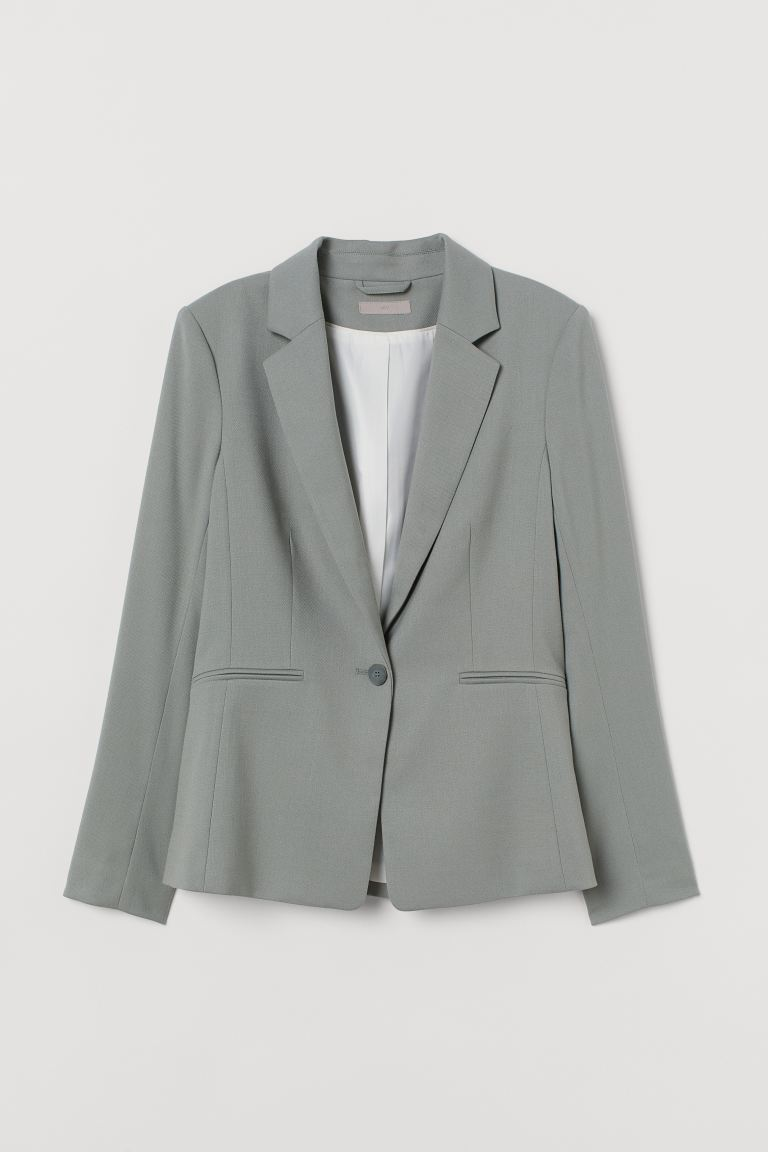 Fitted jacket - Dusky green - Ladies | H&M IE