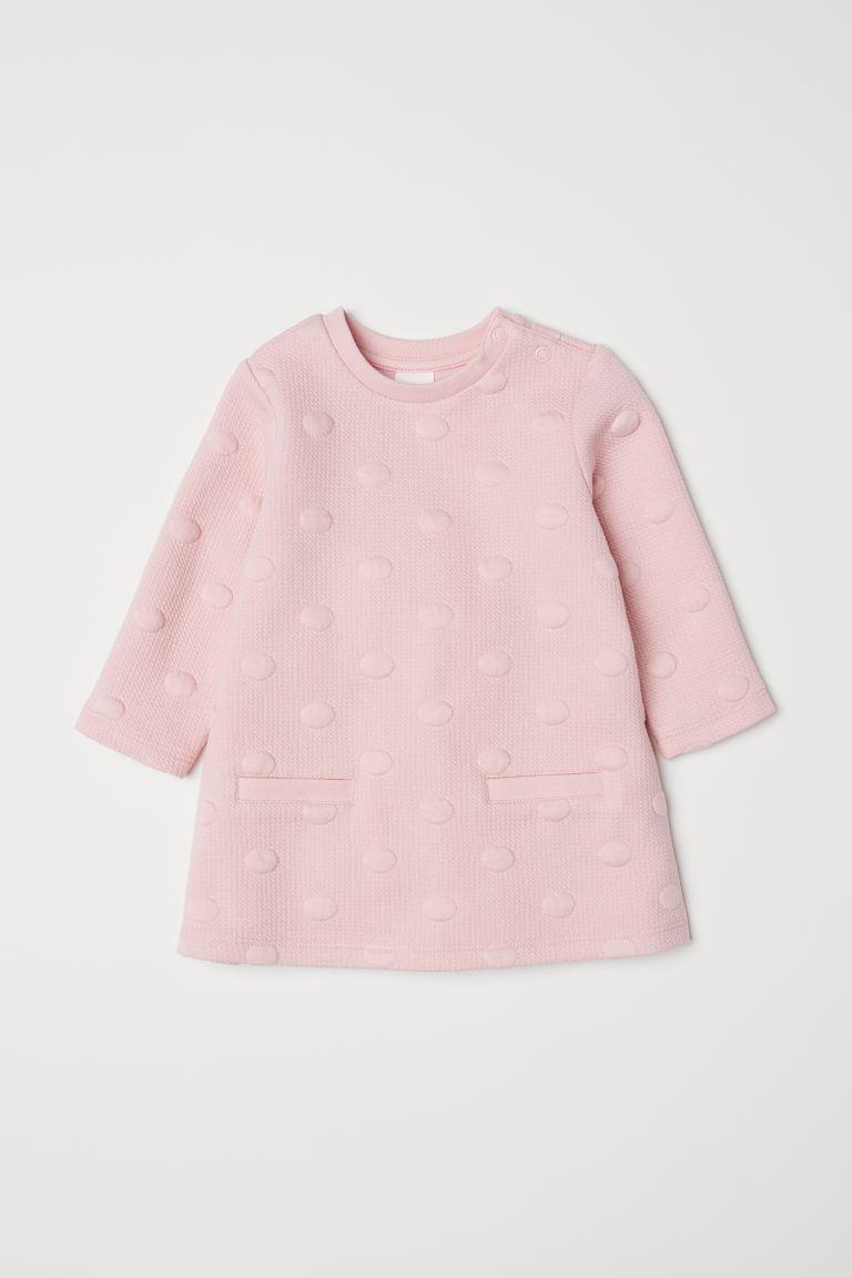 Textured Dress Light Pink Kids H M