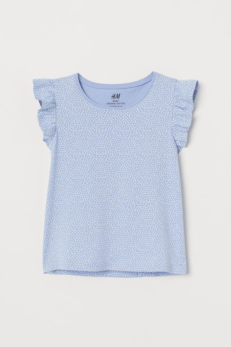 Jersey top - Light blue/Hearts - Kids   H&M GB