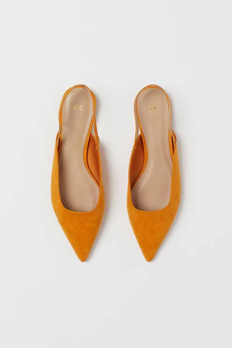 Slingbacks - Dark yellow - Ladies | H&M US