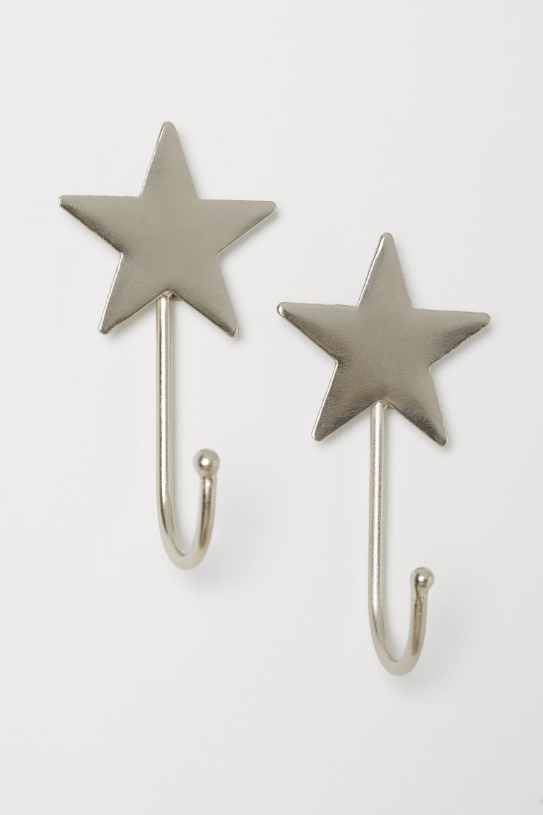 2-pack Hooks - Silver-colored - Home All | H&M US