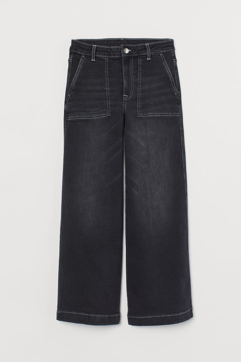 Culotte High Ankle Jeans - Negro - MUJER | H&M ES