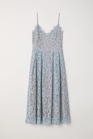 Lace dress - Light blue - Ladies | H&M IN