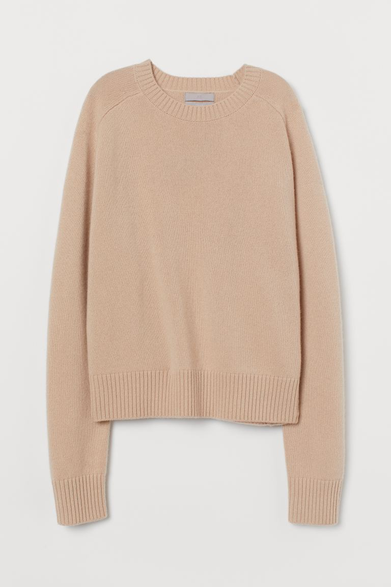 Cashmere jumper - Light beige - Ladies | H&M IE
