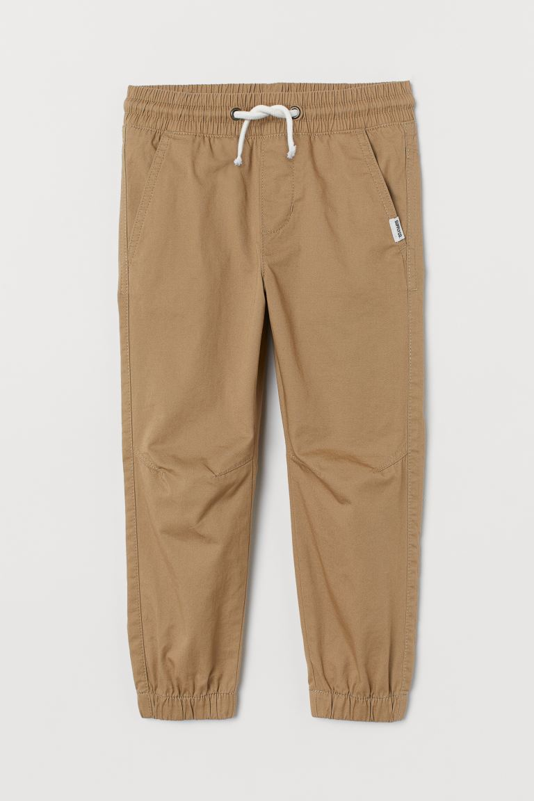 Pantaloni pull-on in cotone - Beige - BAMBINO | H&M IT