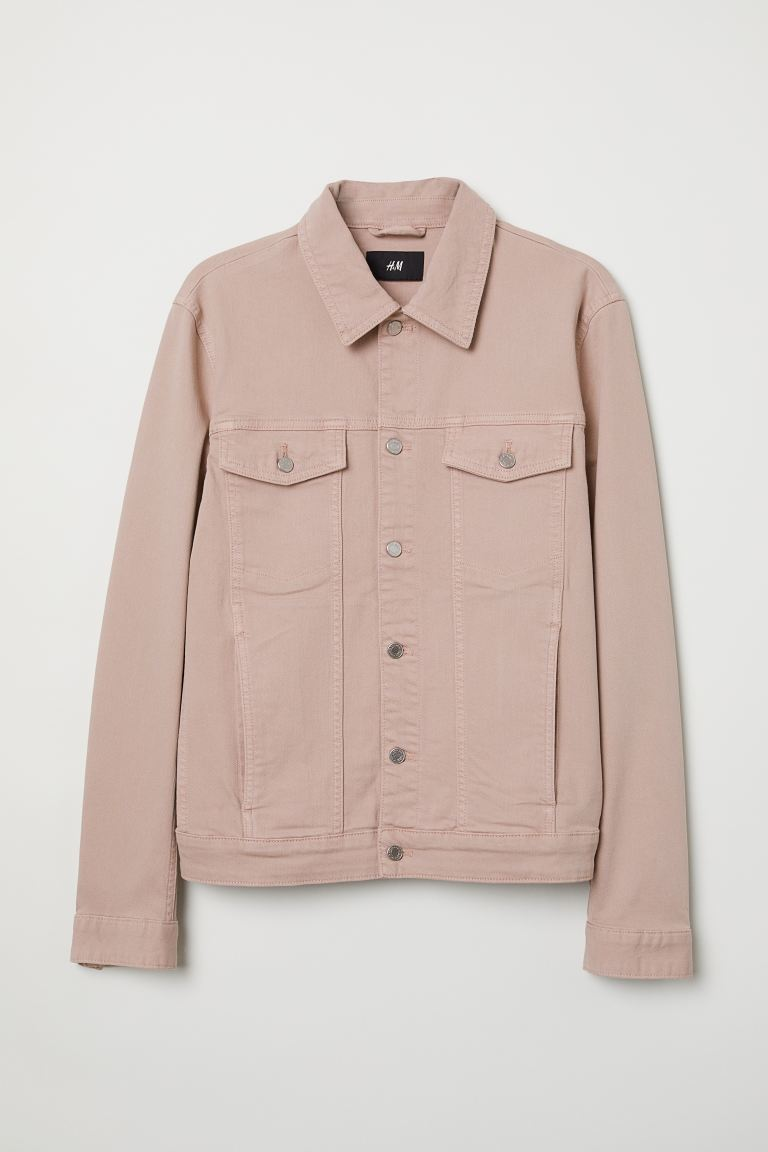 Denim jacket - Dusky pink - Men | H&M GB