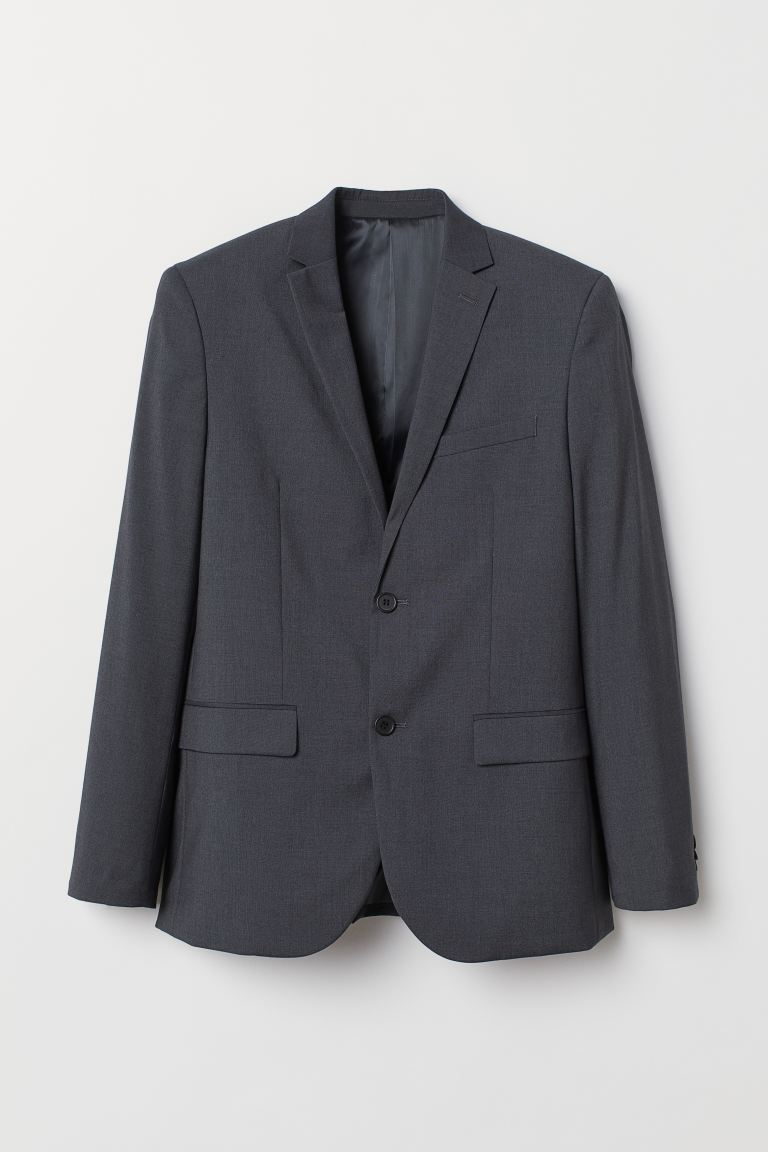 Blazer Slim fit - Grigio scuro - UOMO | H&M IT