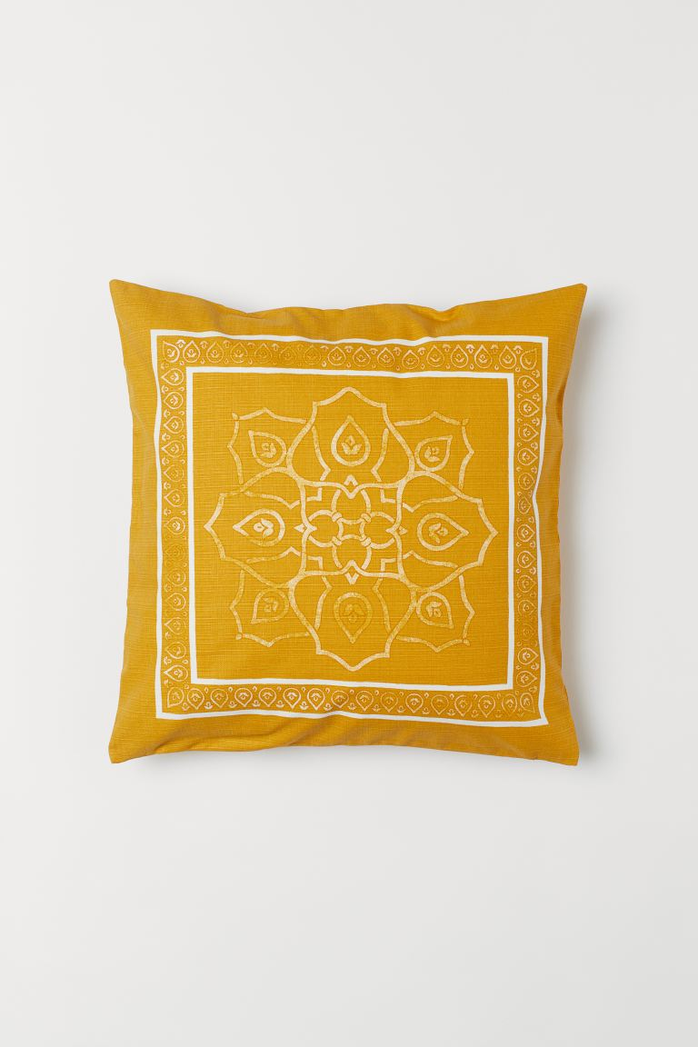 Patterned Cushion Cover - Dark yellow - Home All | H&M US