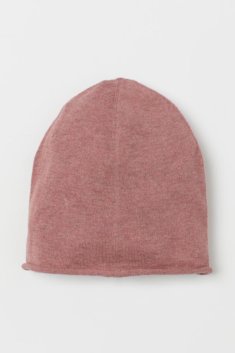 Fine-knit silk-blend hat - Dark old rose - Kids | H&M GB