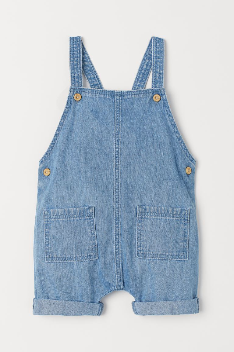 Denim Overall Shorts - Denim blue -  | H&M US