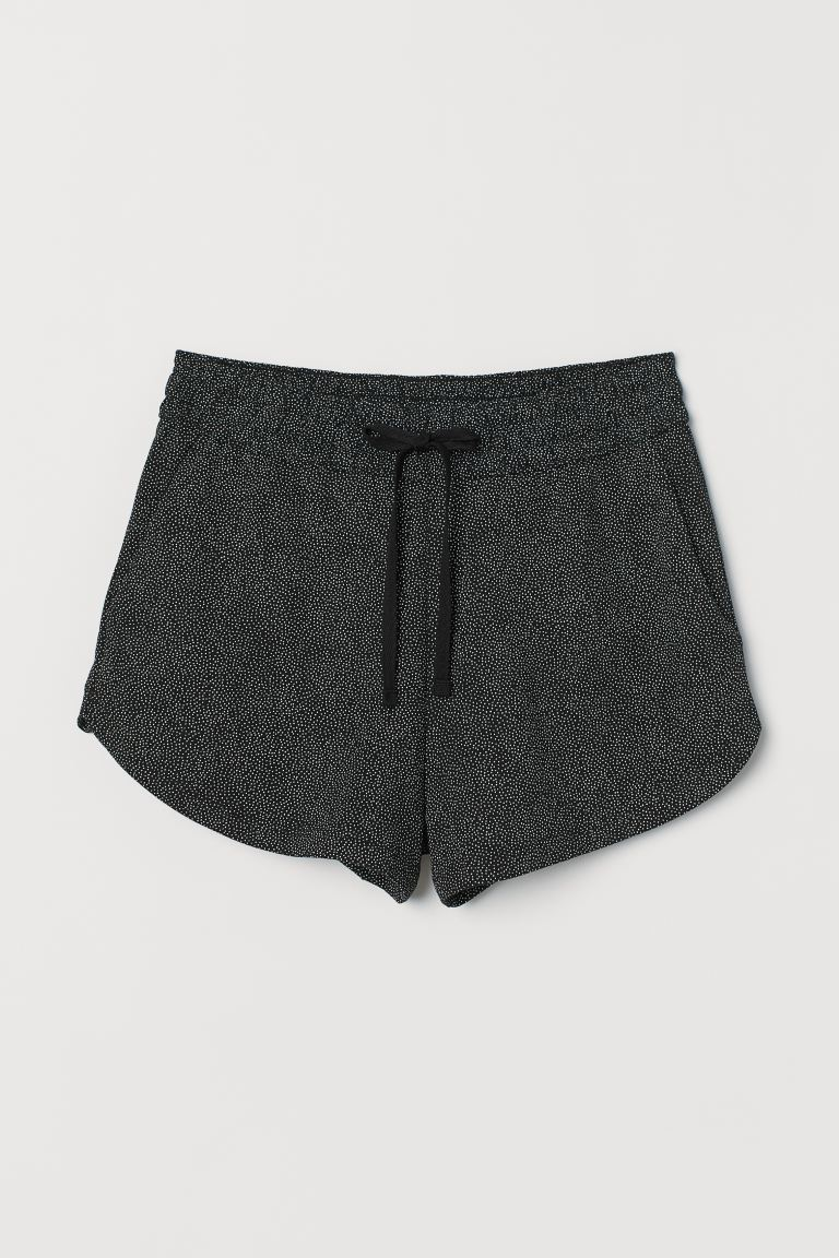 Sweatshirt shorts - Black/Spotted - Ladies | H&M GB