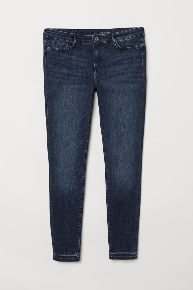H&M+ Shaping Skinny Jeans - Dark blue - Ladies | H&M GB