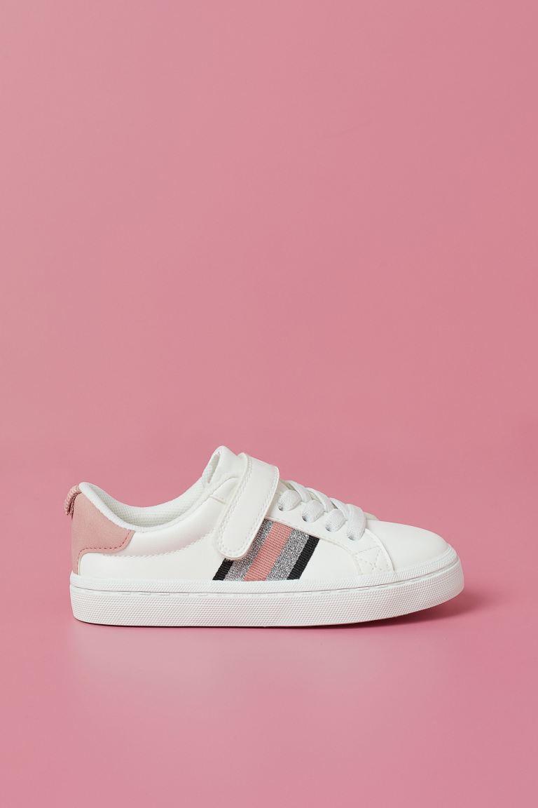Trainers - White/Glitter - Kids   H&M GB