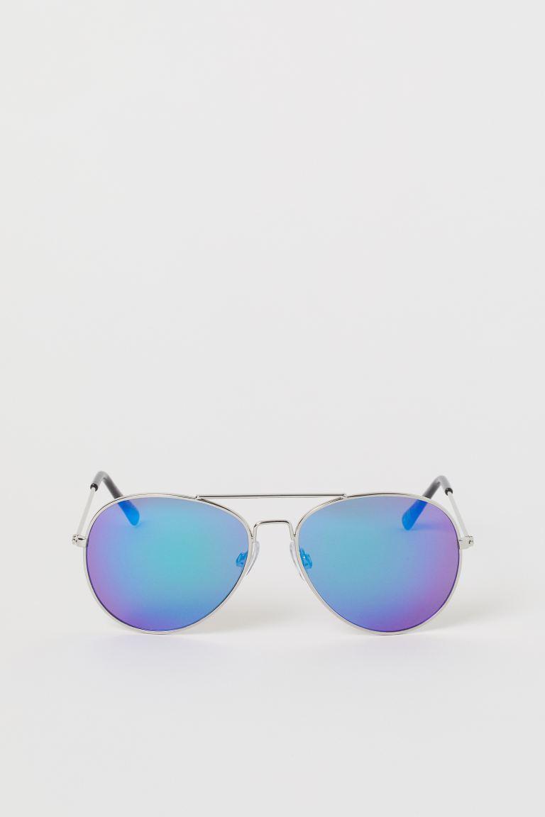Sunglasses - Silver-coloured/Blue - Kids   H&M GB