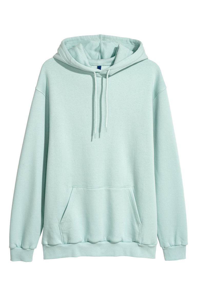 hoodie turquoise homme