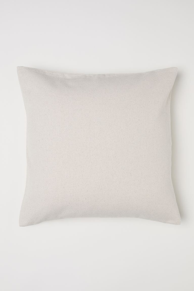 Cotton Canvas Cushion Cover - Light beige - Home All | H&M CA