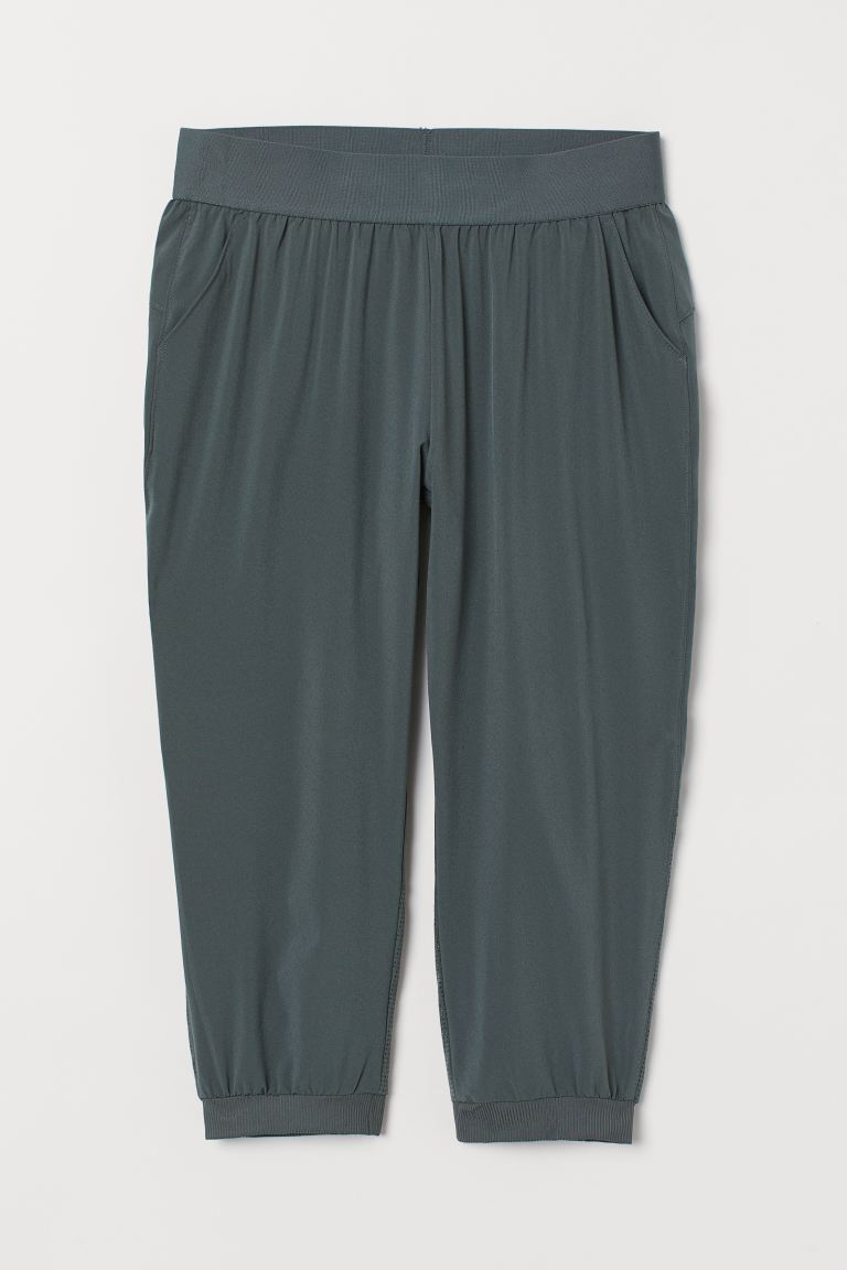 3/4-length sports trousers - Dark green - Ladies | H&M