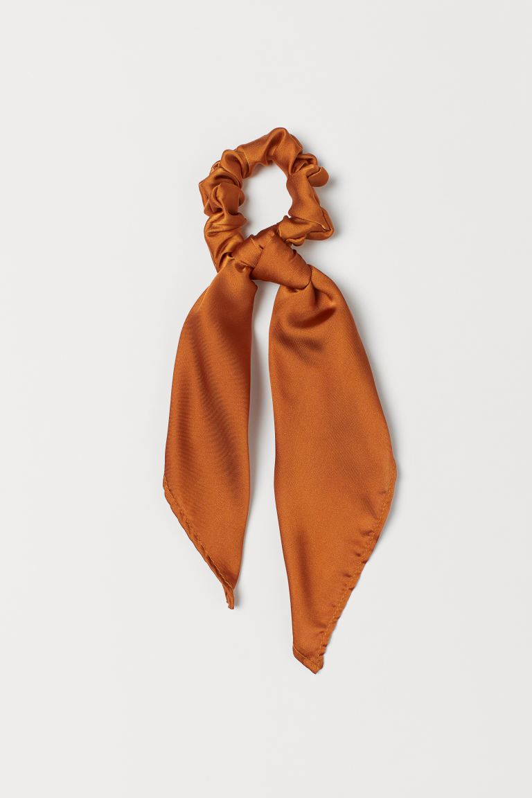 Scarf-detail Scrunchie - Dark orange - Ladies | H&M CA