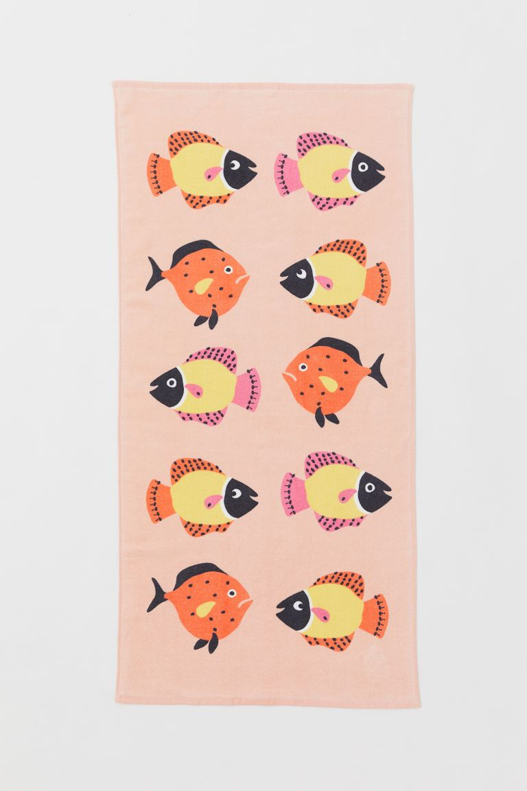 Bath Towel - Apricot/fish - Home All | H&M US