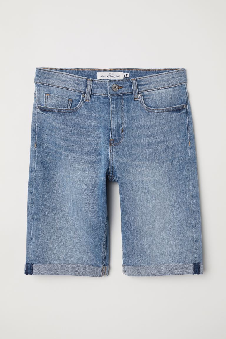 Knee-length Denim Shorts - Denim blue - Ladies | H&M US