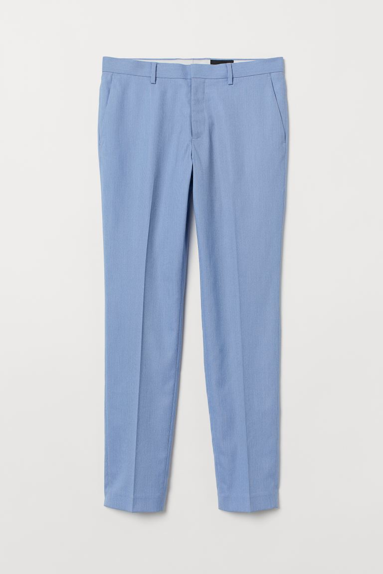 Pantalón de traje Slim Fit - Azul claro - Men | H&M MX