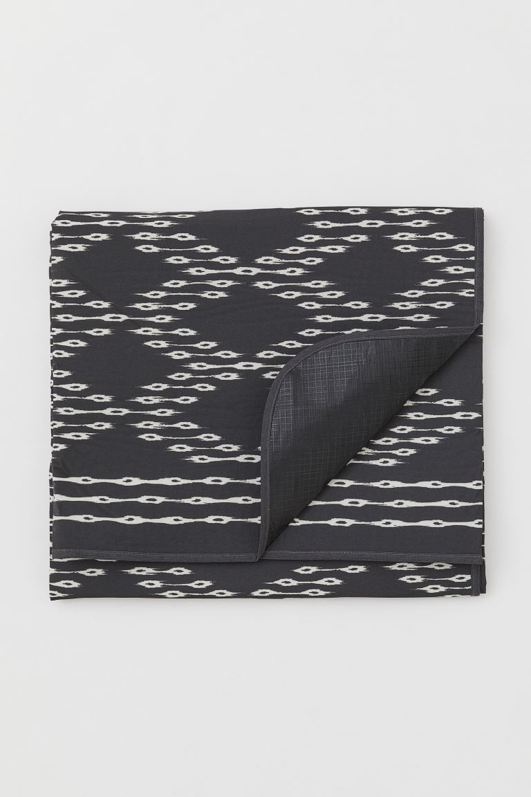 Couverture de pique-nique - Gris anthracite/motif - HOME | H&M BE