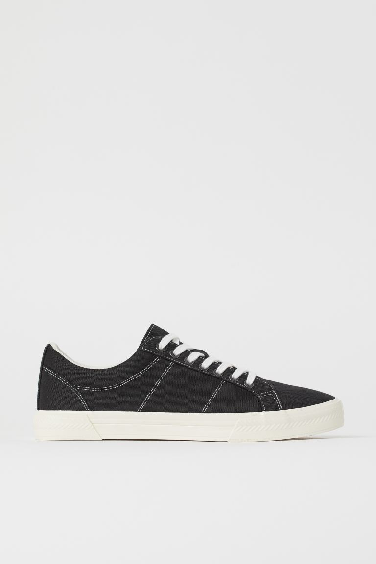Sneaker aus Canvas - Schwarz - Men | H&M AT