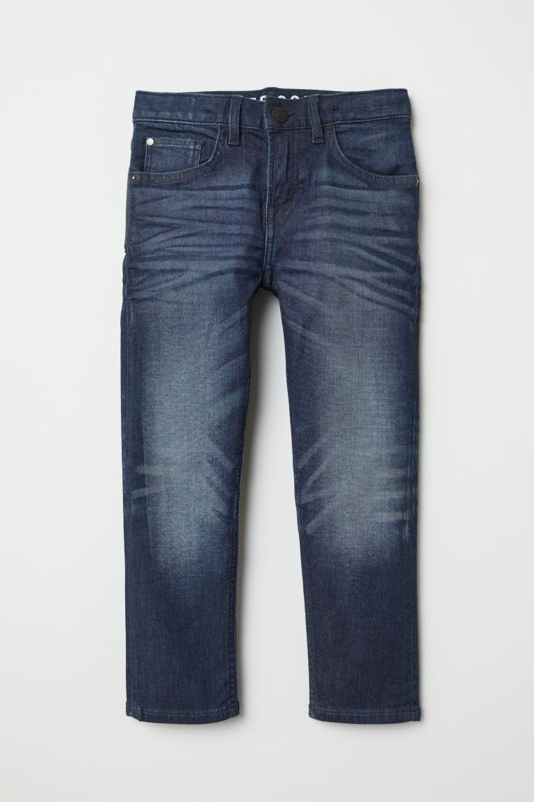 Super Soft Slim Fit Jeans - Dark denim blue - Kids | H&M