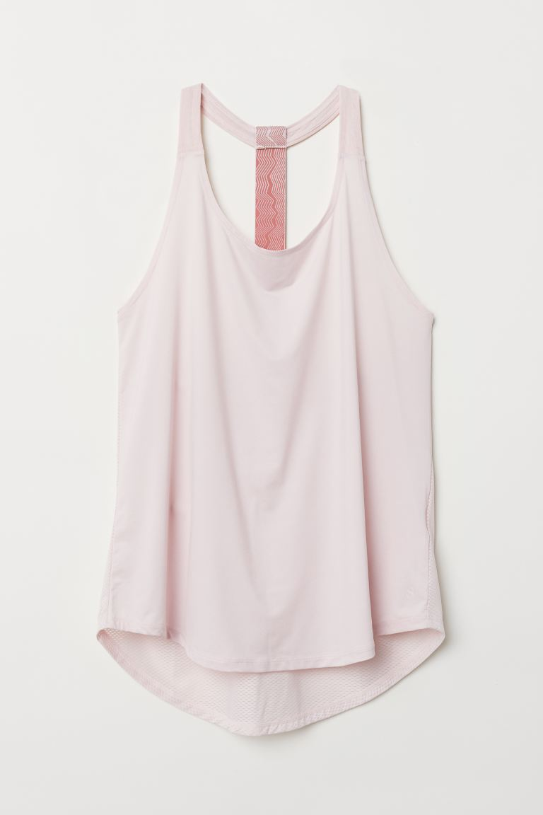 Sports vest top - Light pink - Ladies | H&M GB