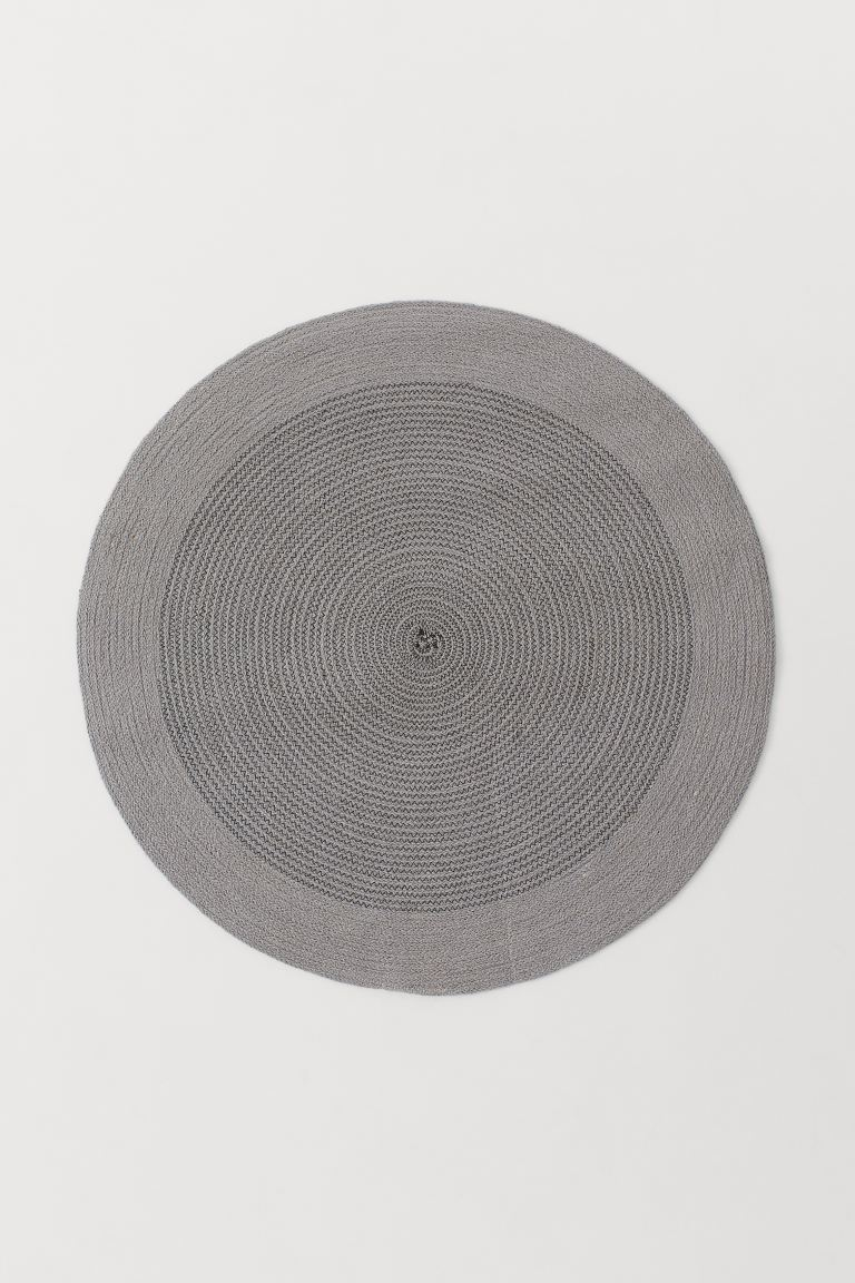 Round jute rug - Grey - Home All | H&M GB
