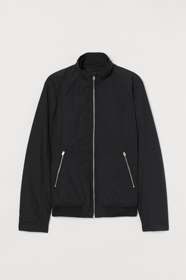 Jacket with Stand-up Collar - Black - Men | H&M CA