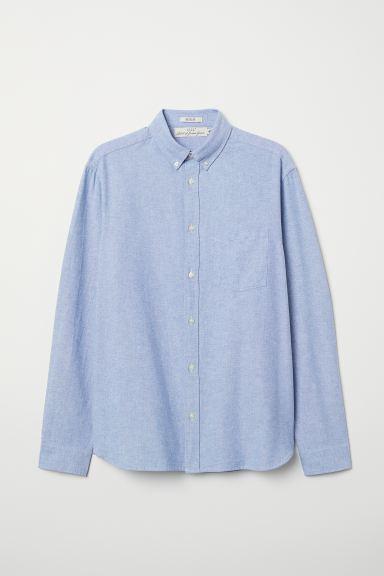Regular Fit Oxford Shirt Blue Men