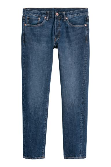 Slim Straight Jeans - Blu denim - UOMO | H&M IT