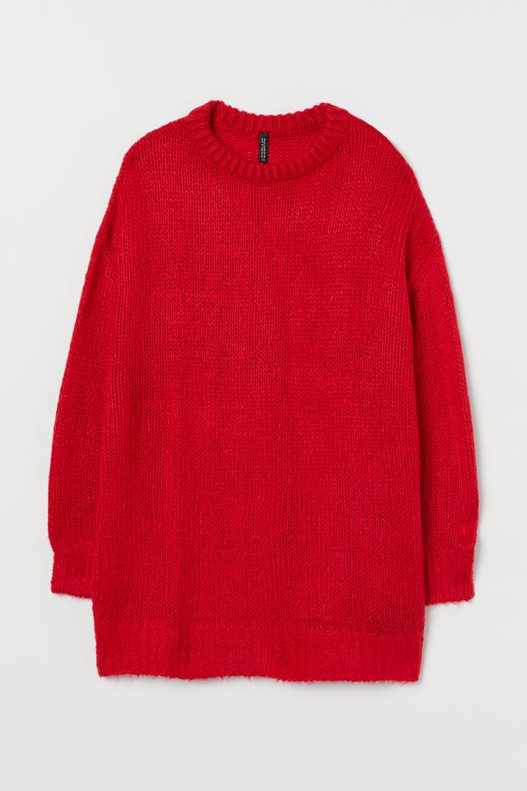 Knitted jumper - Red - Ladies | H&M IE