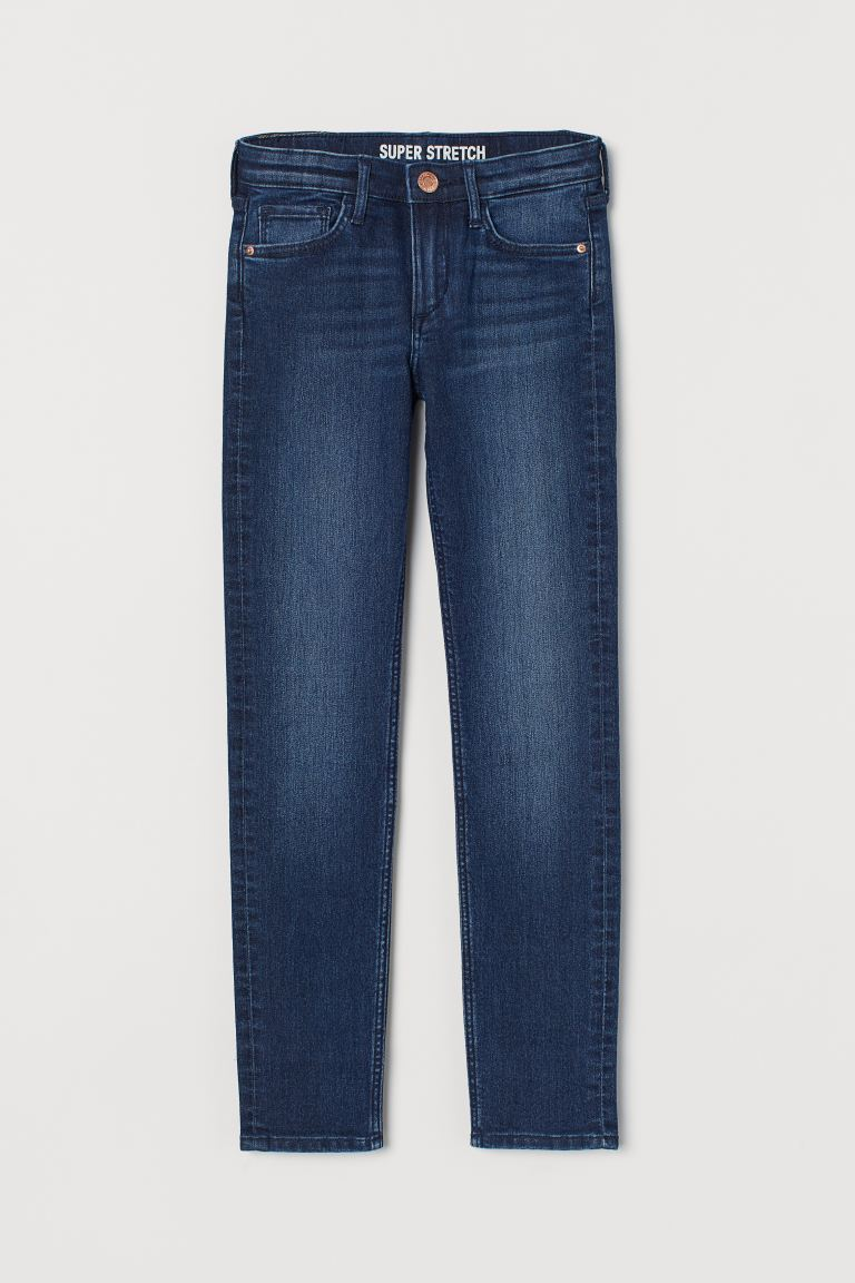 Superstretch Skinny Fit Jeans - Mörk denimblå - BARN | H&M FI