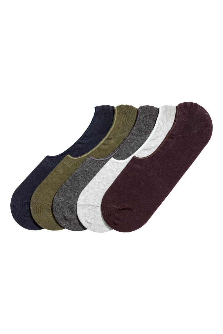 5-pack liner socks - Dark blue/Khaki green - Men | H&M IE