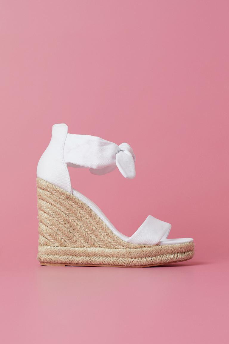 Wedge-heel sandals - White - Ladies   H&M GB