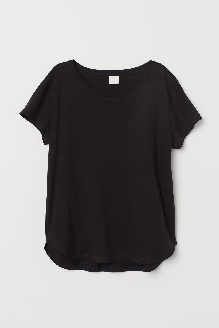 Jersey Top - Black - Ladies | H&M CA