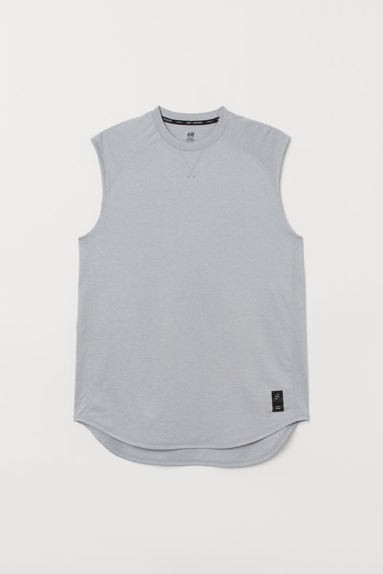 Loose Fit Sports Shirt - Light gray melange - Men | H&M US