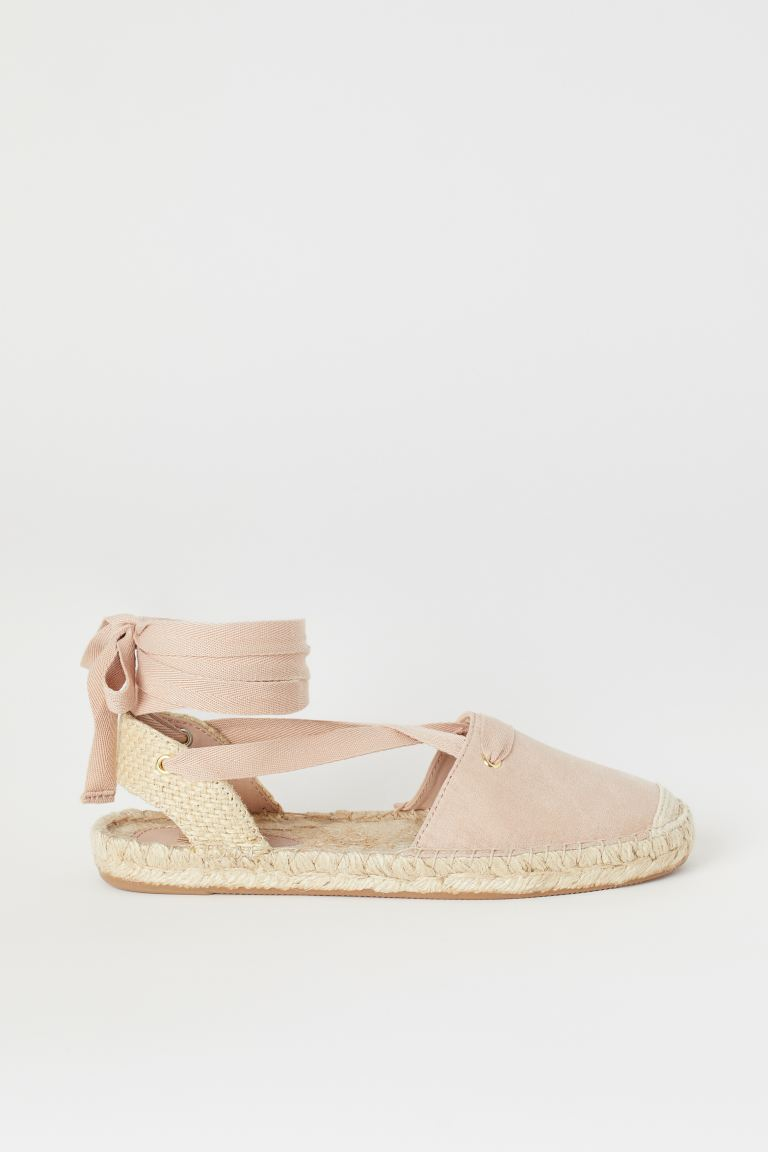 Espadrilles with Lacing - Beige - Ladies | H&M US