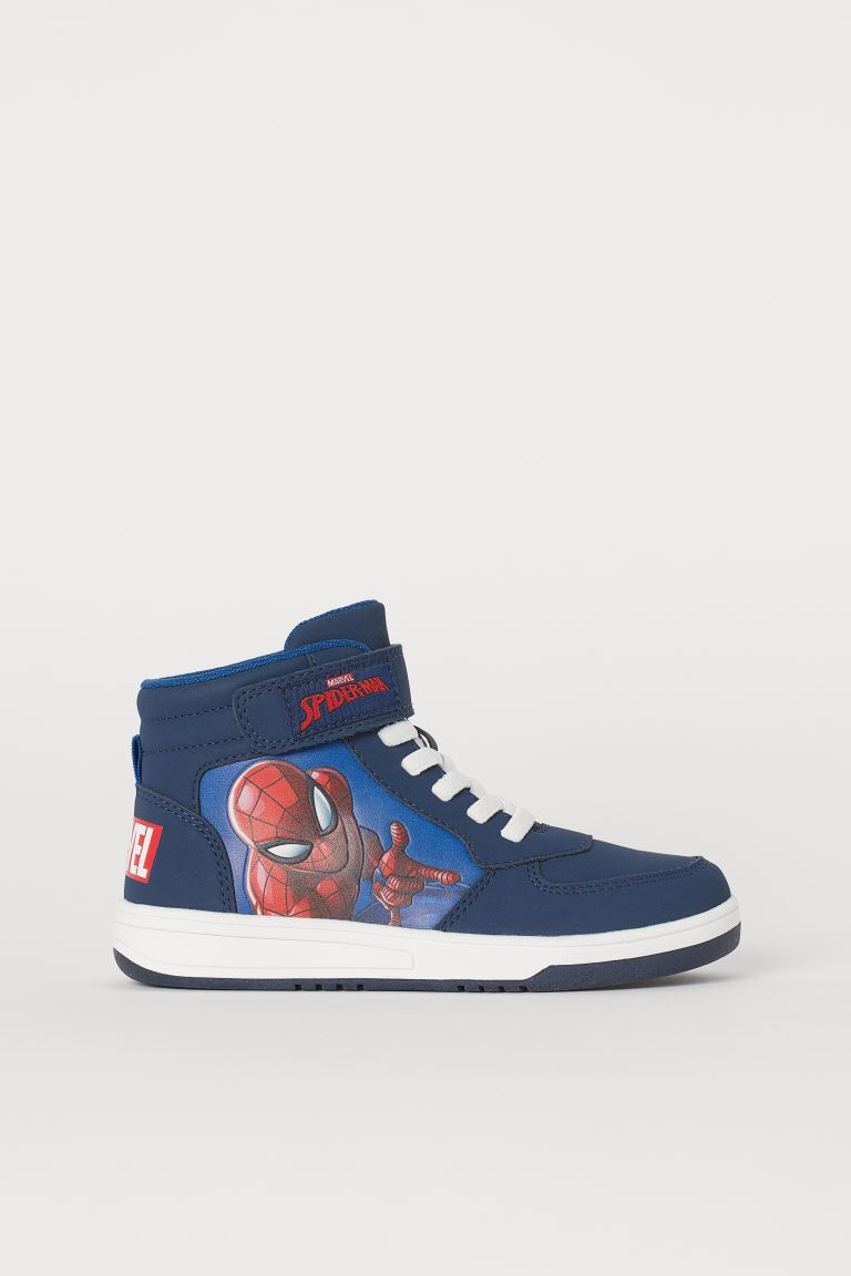 Sneakers alte con stampa - Blu scuro/Spiderman - BAMBINO | H&M IT